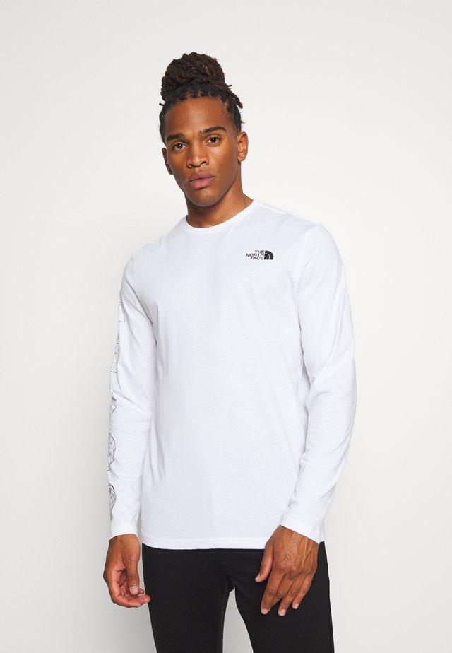GEODOME TEE  - T-shirt à manches longues - white