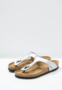 Birkenstock - GIZEH - T-bar sandals - silver - 4