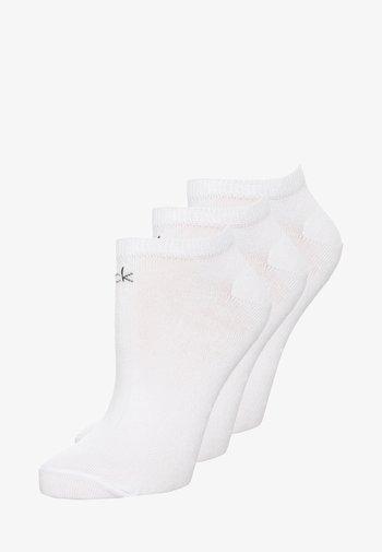 WOMEN LINER LOGO 3 PACK - Socks - white