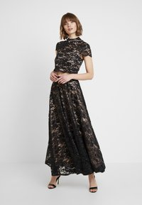 Sista Glam - TESSIE SET - Maxi skirt - black/nude