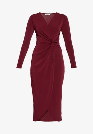 TWIST FRONT BODYCON DRESS - Pouzdrové šaty - plum