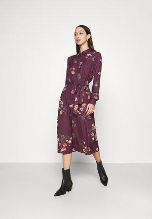VMLALLIE CALF DRESS  - Shirt dress - plum perfect/lallie