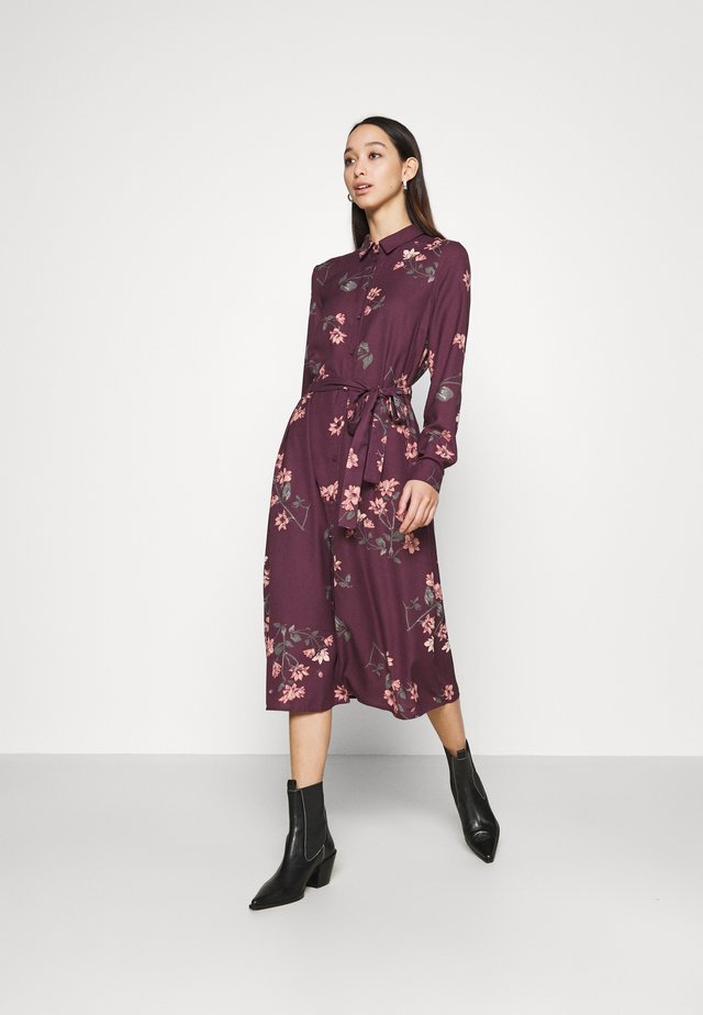 VMLALLIE CALF DRESS  - Shirt dress - plum perfect/lallie