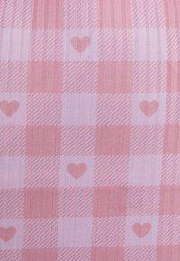 NEW girl ORDER - HEART GINGHAM SKIRT - Mini skirt - purple - 2