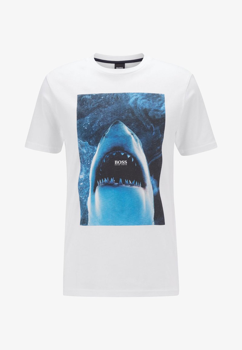 BOSS CASUAL - Print T-shirt - white