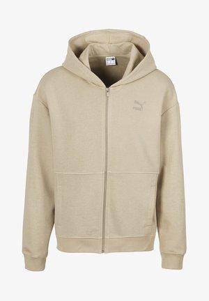 Zip-up hoodie - pale khaki