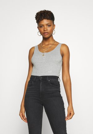 RUBY HENLEY BODYSUIT - Top - smokestack heather