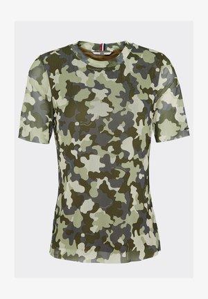 Print T-shirt - camo print / olive tree