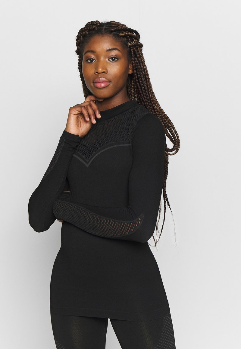 ONLY Play - ONPJAMINA SLIM CIRCULAR - Treningsskjorter - black
