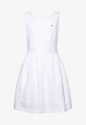 BRODERIE ANGLAISE DRESS  - Cocktail dress / Party dress - white
