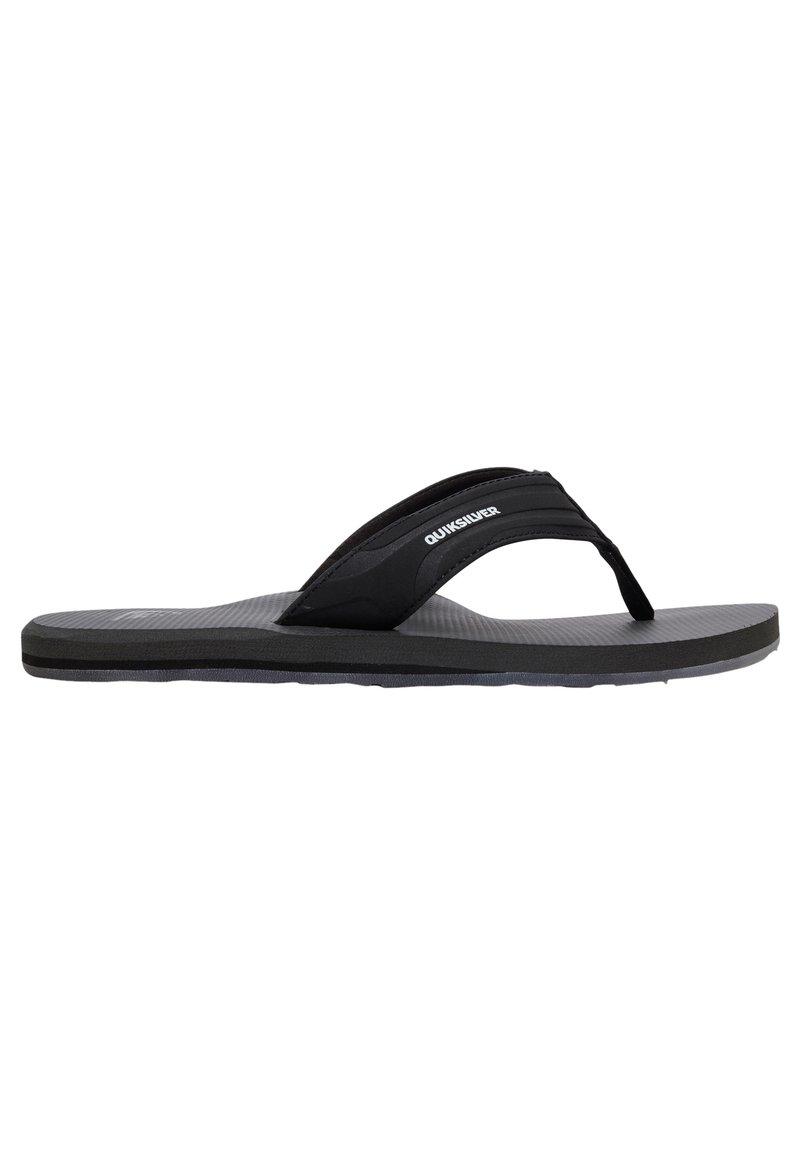 Quiksilver - T-bar sandals - black/grey/black