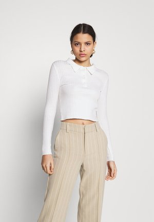 CARE SKINNY WITH COLLAR - Jumper - cream