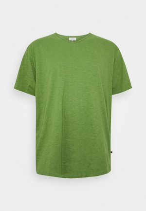 RAW VNECK SLUB TEE - T-shirt basic - oliv