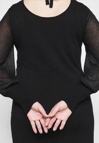 Vero Moda Curve - VMBELLISSIMO BACK DRESS - Jumper dress - black - 4
