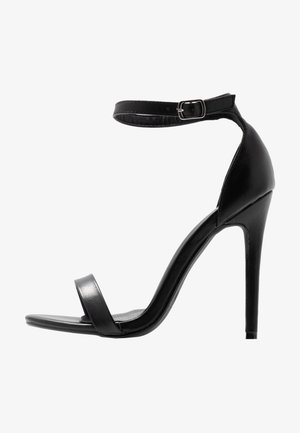 BASIC BARELY THERE - Sandales à talons hauts - black