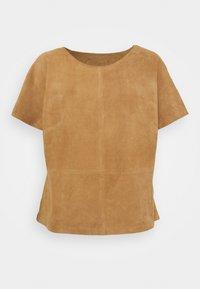 DEPECHE - T-shirt basic - sand - 0