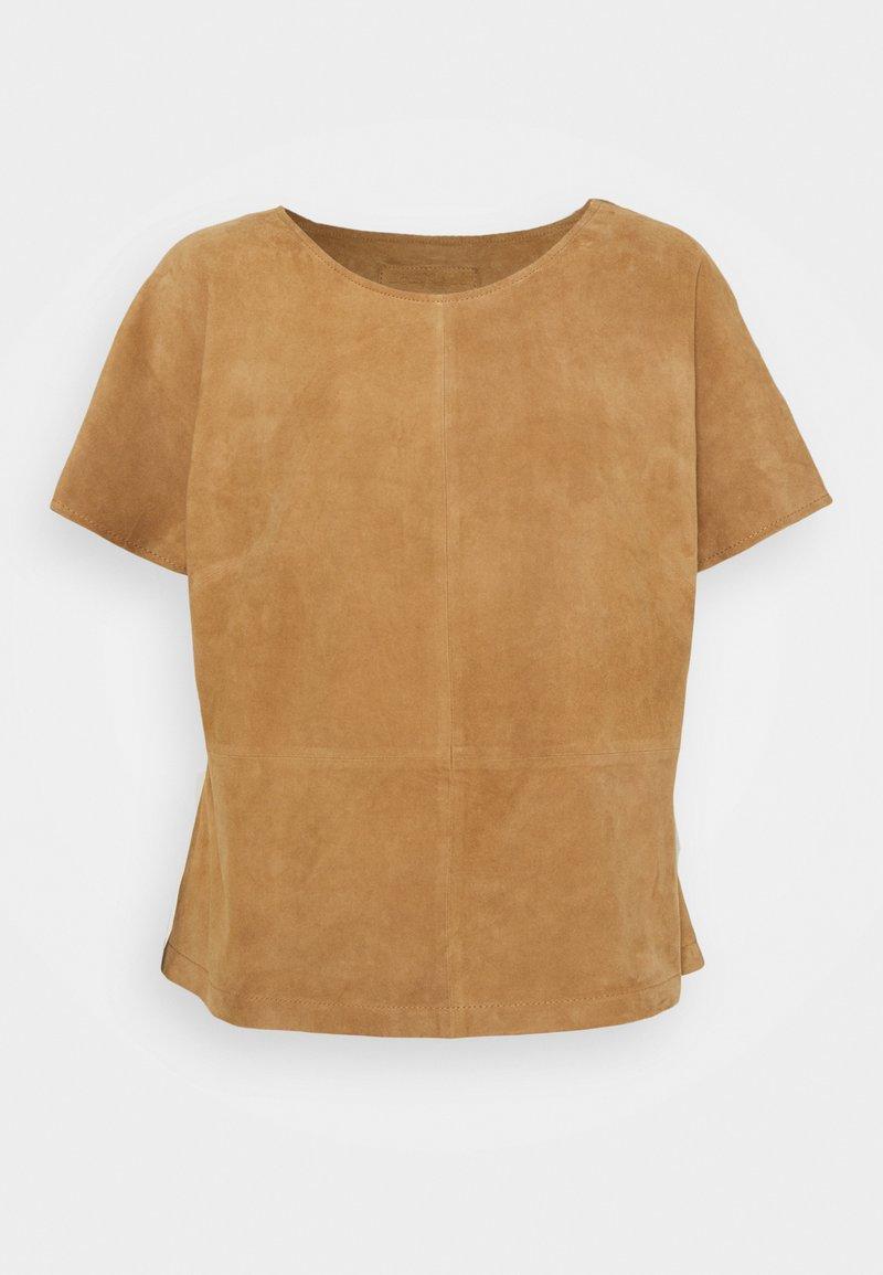 DEPECHE - T-shirt basic - sand