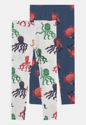 CRAB 2 PACK UNISEX - Leggings - Trousers - dark dusty blue