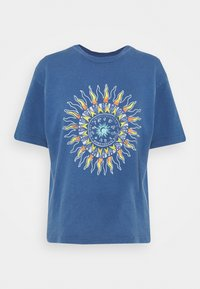 BDG Urban Outfitters - SUN CHANGE TEE - Print T-shirt - navy - 3