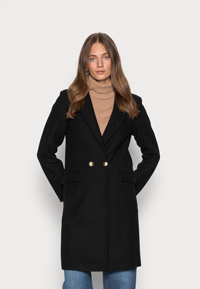 Abercrombie & Fitch - TAILORED SLIM DAD COAT - Classic coat - black