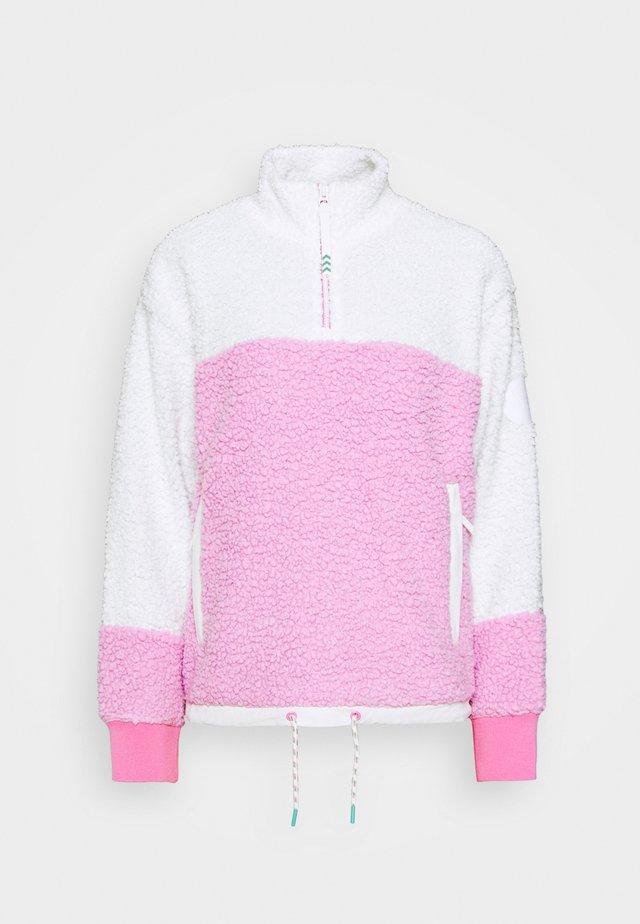 LAROSA  ZIP - Fleece jumper - white