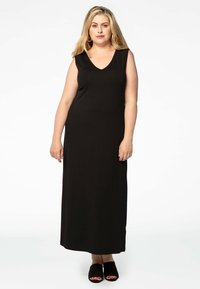 Yoek - MIT V-AUSSCHNITT - Maxi dress - black - 1