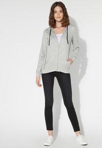 Tezenis - Zip-up hoodie - grigio mel.chiaro/nero - 1