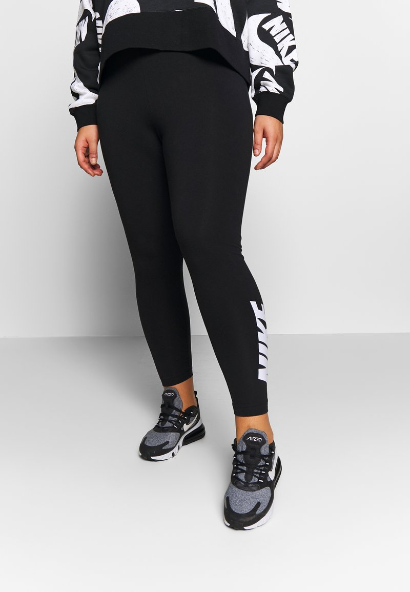Nike Sportswear - CLUB - Leggings - black/white