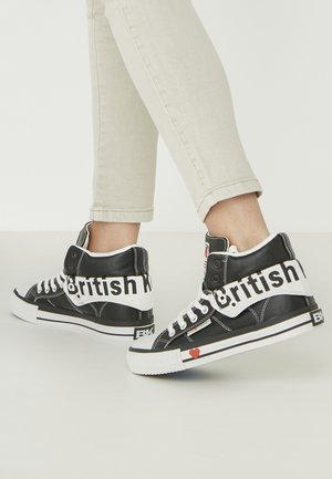ROCO - High-top trainers - black/white