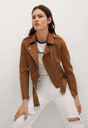 SEUL - Faux leather jacket - braun