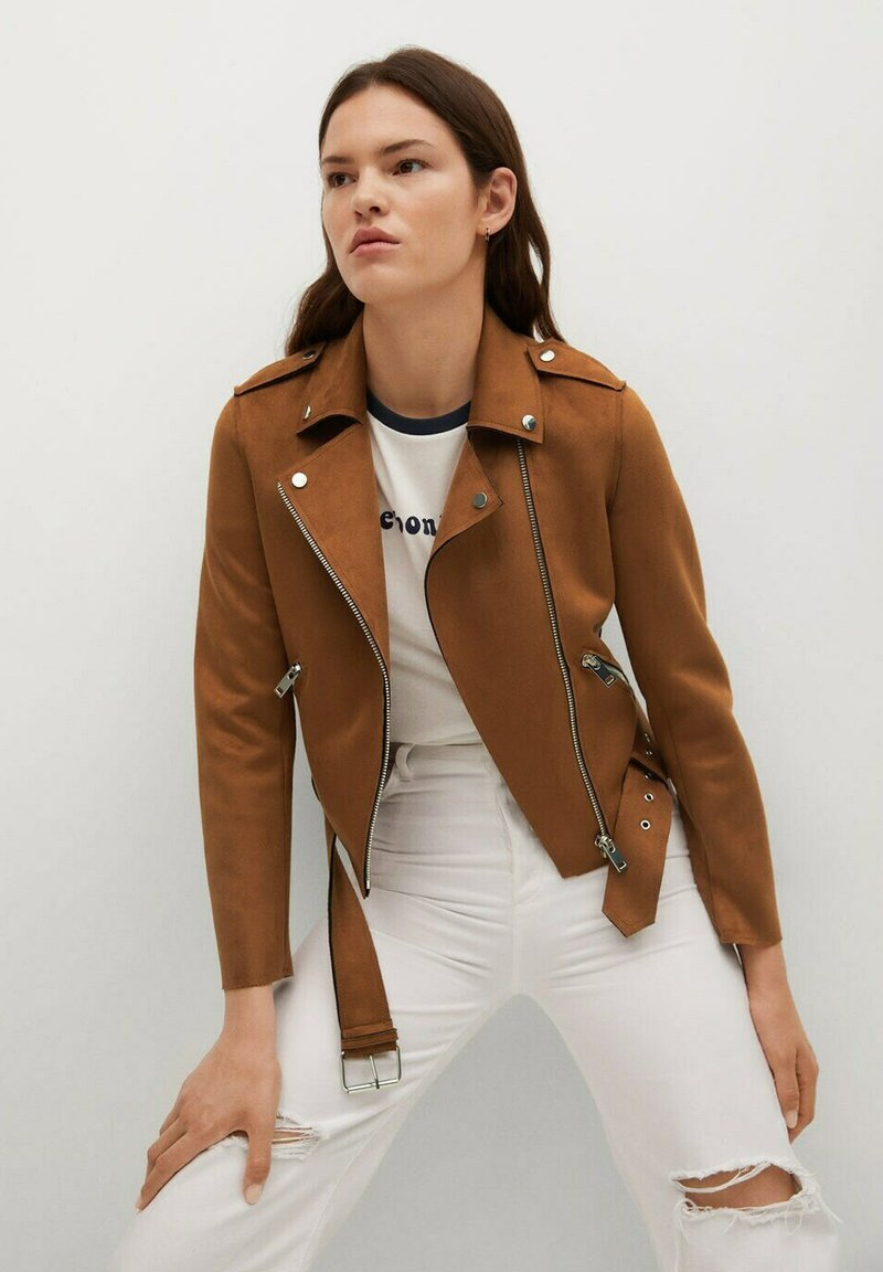 Mango - SEUL - Faux leather jacket - braun