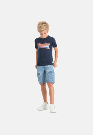 HAMON - Print T-shirt - dark blue