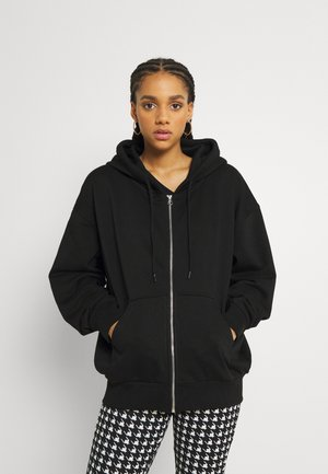 ALISA ZIP HOODIE - Sweat à capuche zippé - black
