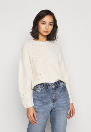 FASHIONED JUMPER - Sweter - off-white