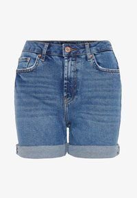 Pieces - Short en jean - medium blue denim - 4