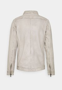 Freaky Nation - BREAK DAWN - Leather jacket - off-white - 1