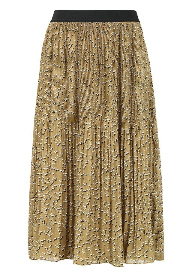 A-line skirt - 529 manja print antique bronze