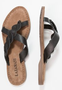 Lazamani - T-bar sandals - black - 3
