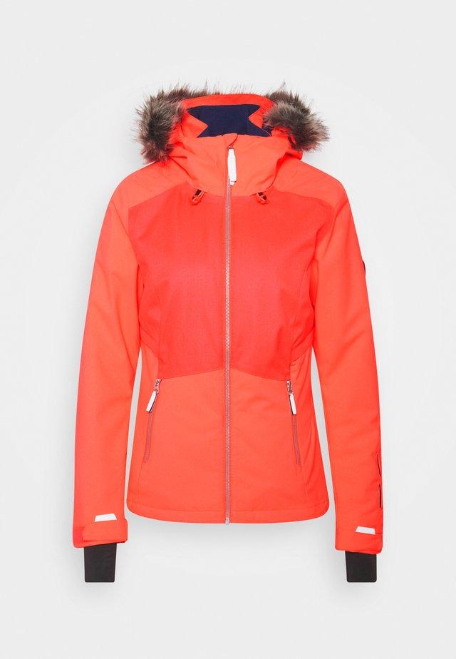 HALITE JACKET - Snowboard jacket - fiery coral