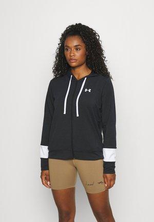 RIVAL TERRY HOODIE - Zip-up sweatshirt - black