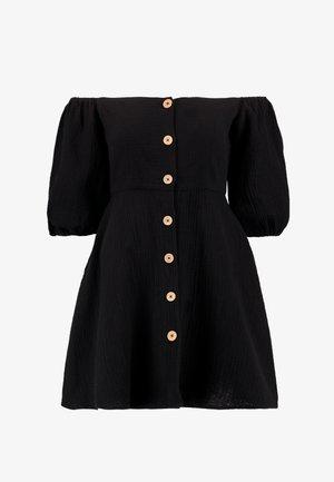OFF SHOULDER DRESSES - Shirt dress - black