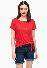 s.Oliver - KURZARM - Basic T-shirt - luminous red - 0