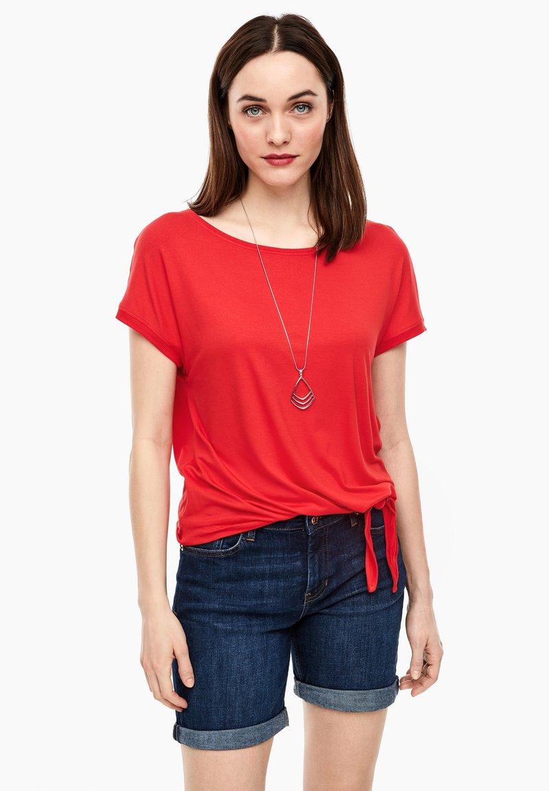 s.Oliver - KURZARM - Basic T-shirt - luminous red