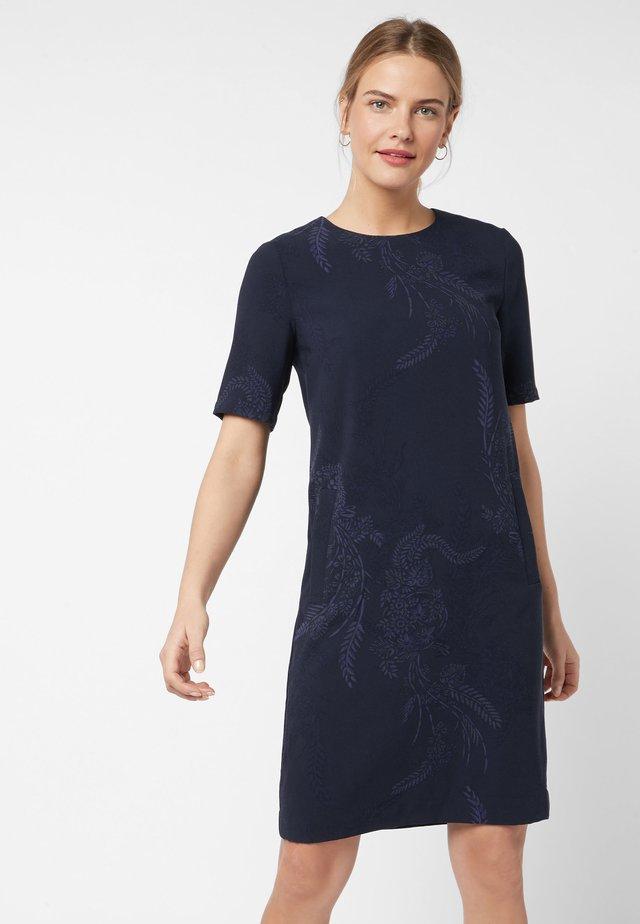 SHORT SLEEVE CREPE - Vestido informal - royal blue