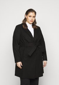 New Look Curves - JORDAN BELTED COAT - Kåpe / frakk - black - 0