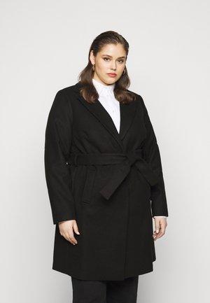 JORDAN BELTED COAT - Zimní kabát - black