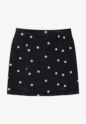 MIT MARGERITEN  - Mini skirt - black
