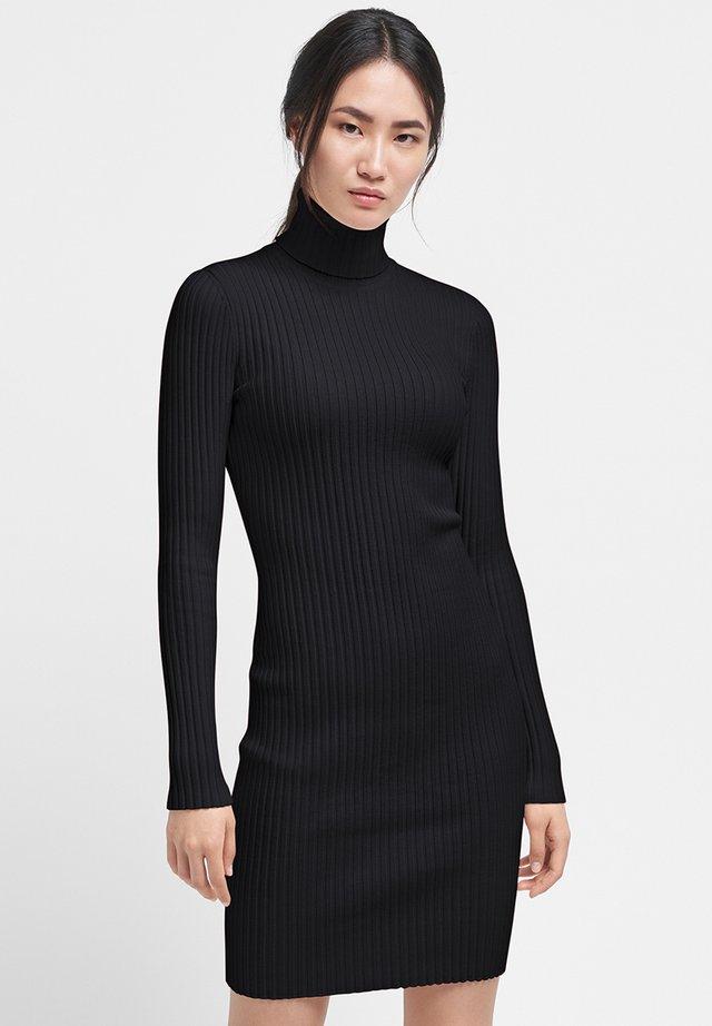 MERINO - Shift dress - black
