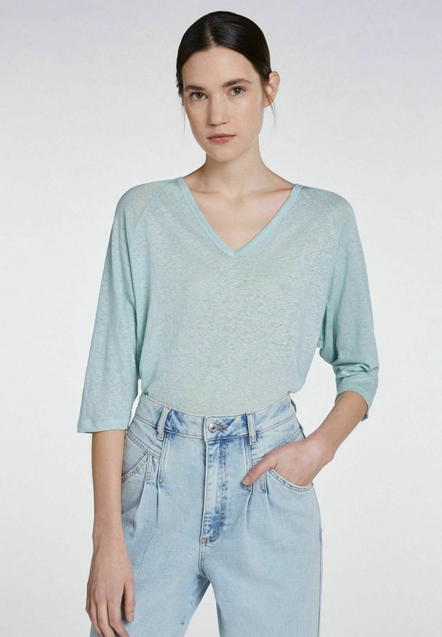 Langarmshirt - dusty mint