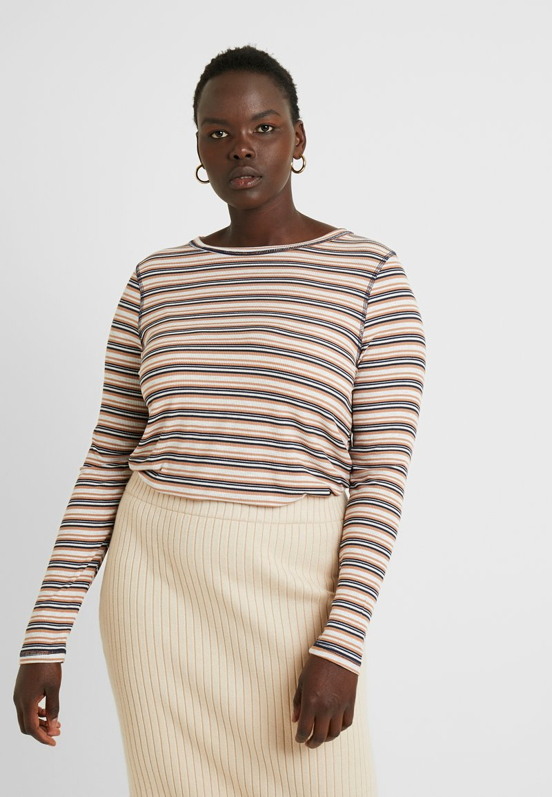 Cotton On Curve - GIRLFRIEND LONG SLEEVE - Long sleeved top - nicola multi/camel